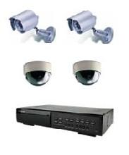 комплект видеонаблюдения на базе видеорегистраторов Комплект 4-4 Ч/Б VDR (улица-помещение)