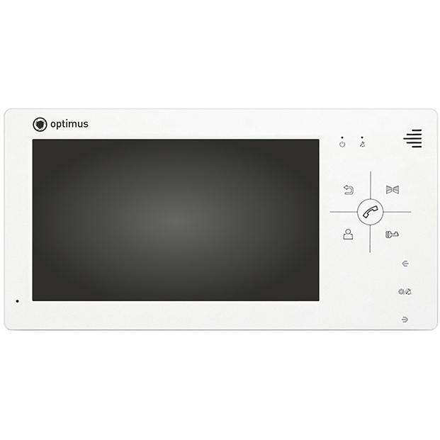 Фото - Монитор видеодомофона Optimus Optimus VM-7.0 (белый) вызывная панель на 3 видеодомофона optimus optimus dsh 1080 3 белый