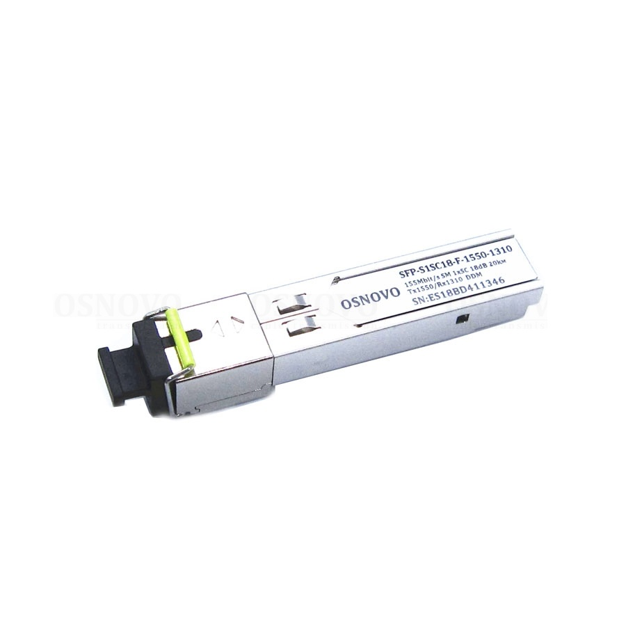 Фото - SFP-модуль OSNOVO OSNOVO SFP-S1SC18-F-1550-1310 sfp модуль osnovo osnovo sfp tp rj45 i