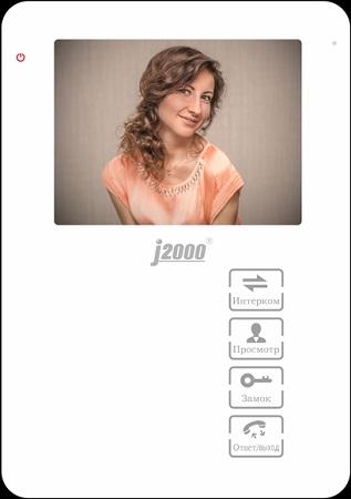 Монитор видеодомофона с памятью J2000 J2000-DF-ДИАНА (белый)