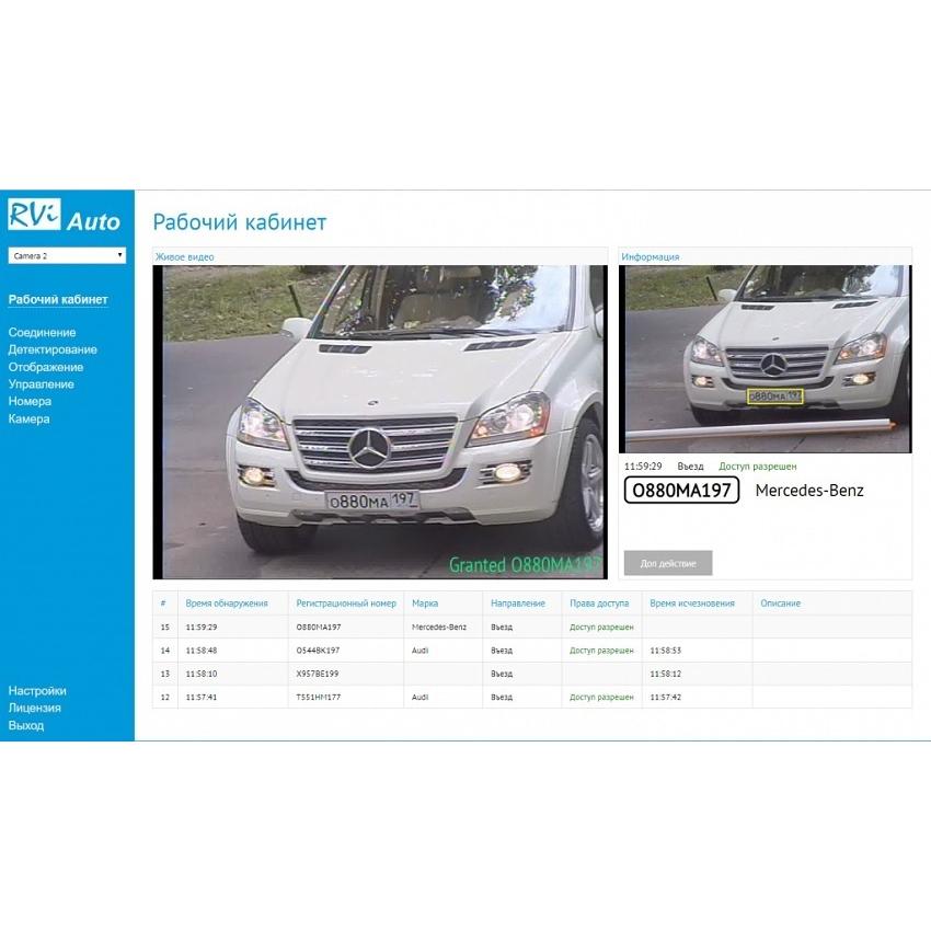 ПО RVi RVi Модуль распознавания автомобильных номеров