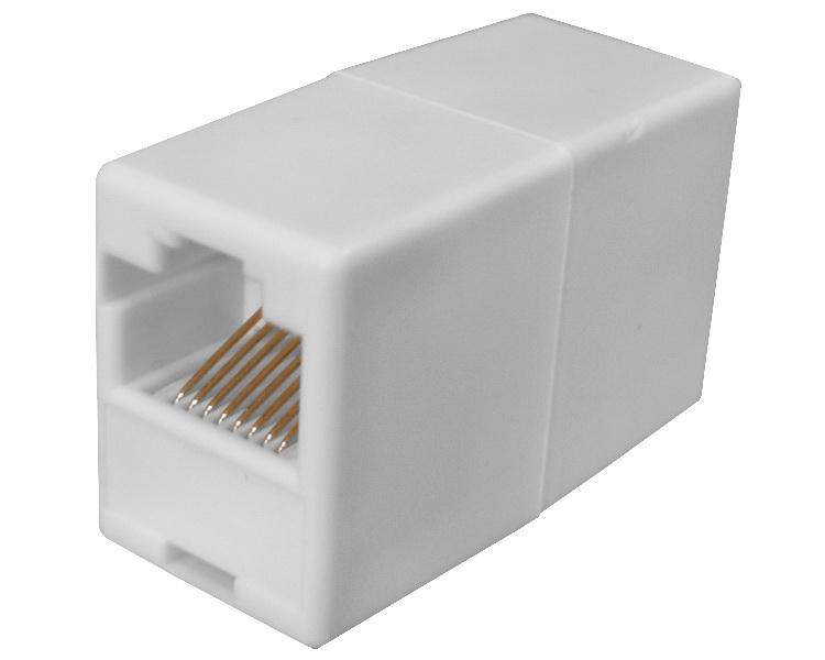 Разъем Ethernet Giraffe RJ-45 переходник гнездо-гнездо (8p8c)