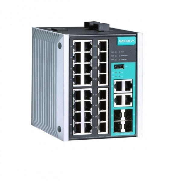 Коммутаторы до 1000Mbps MOXA MOXA EDS-528E-4GTXSFP-HV