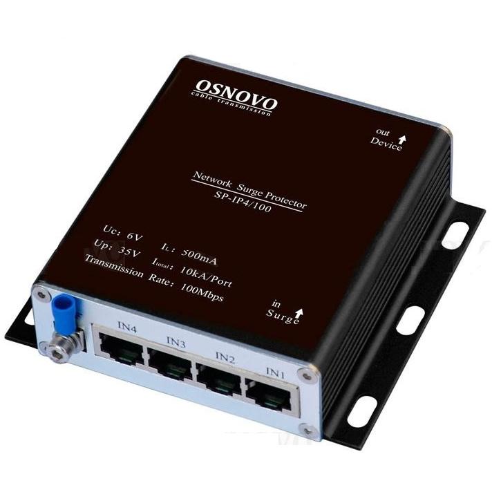 Грозозащита цепей управления и IP-сетей OSNOVO OSNOVO SP-IP4/100