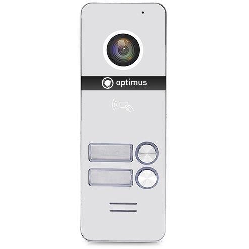 Фото - Вызывная панель на 2 видеодомофона Optimus Optimus DSH-1080/2 (белый) вызывная панель на 3 видеодомофона optimus optimus dsh 1080 3 белый