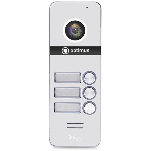 Фото - Вызывная панель на 3 видеодомофона Optimus Optimus DSH-1080/3 (белый) вызывная панель на 3 видеодомофона optimus optimus dsh 1080 3 белый