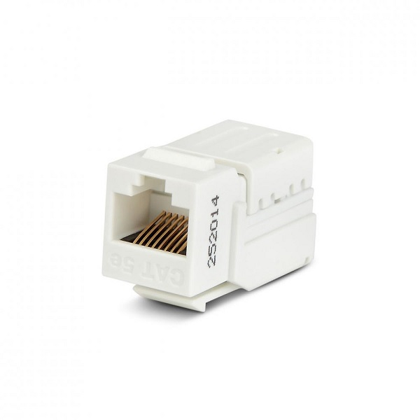Разъем Ethernet Hyperline KJNE-8P8C-C5e-90-WH